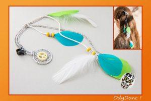 Bijou de Cheveux Pince Crabe Attrape Rêves Dreamcatcher Capteur de Rêves Pendentif Ethnique Peace and Love