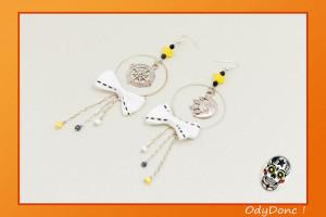 Boucles d'Oreilles Pendantes Tendance Rockabilly Chic Boussole Lune Solaire