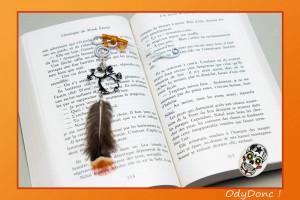Marque Page Arbre de Vie Pendentif Ethnique Ondes Positives Orange et Noir