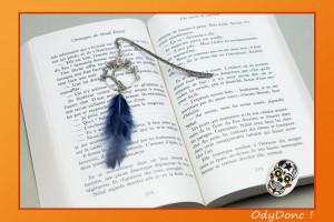 Marque Page Arbre de Vie Pendentif Ethnique Ondes Positives Argent et Bleu