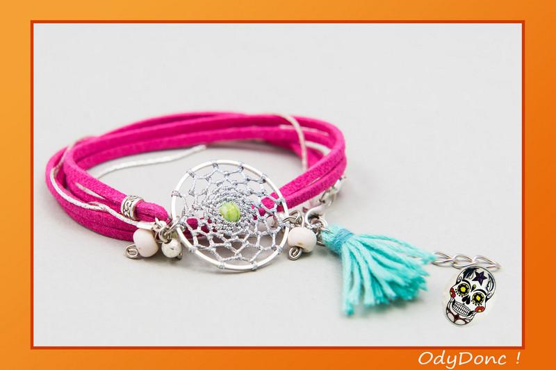 bracelet ethnique fantaisie acidulé
