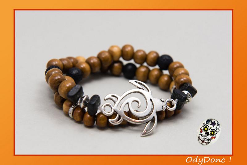 Bracelet double tour ethnique tribal