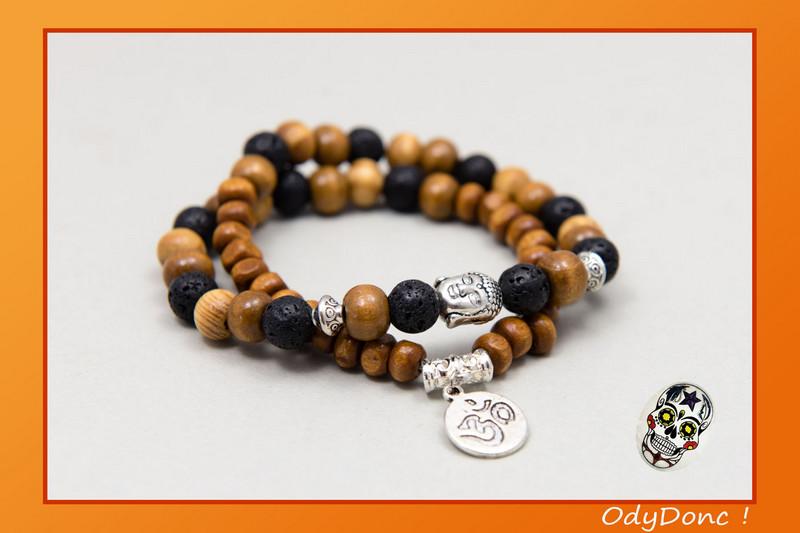 Bracelet double tour ethnique zen