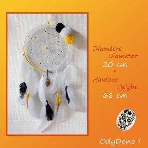 Attrape Rêves Dreamcatcher Artisanal Mobile Tendance Suspension Murale Pompons Fashion