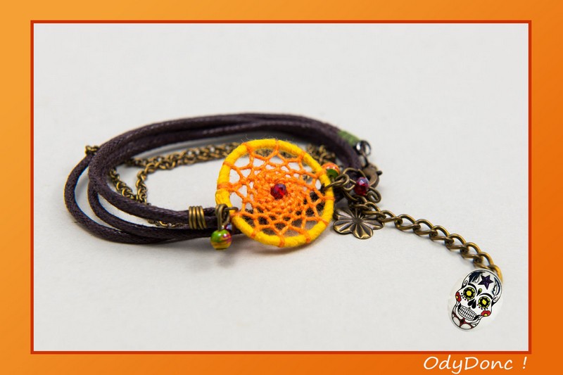 bracelet inspiration automne dreamcatcher