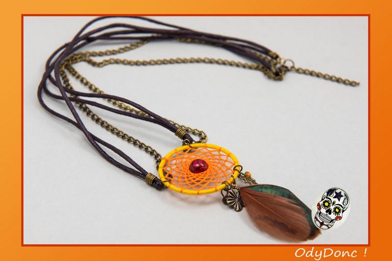 collier sautoir inspiration automne